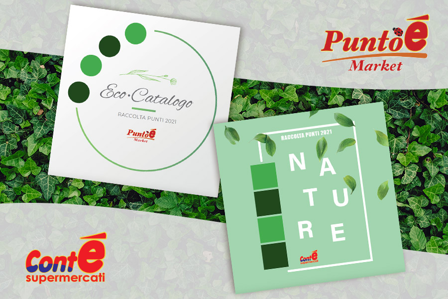"The new promotion for the Conté ""Nature"" and Puntoé ""Eco-Catalog"" catalogs of the Perrone Group"